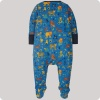 Frugi Lovely Babygrow - Cobalt Big Cats