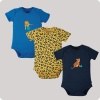 Frugi Super Special Body 3 Pack - Big Cats