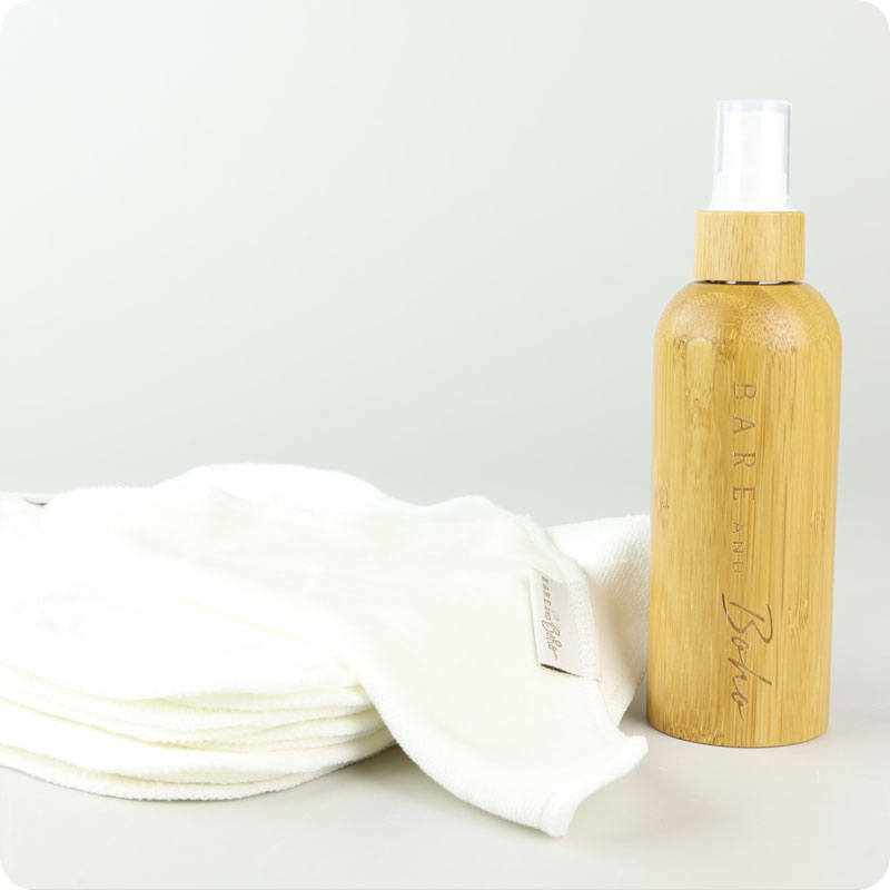 Bare & Boho Wipes & Bamboo Spray Bottle