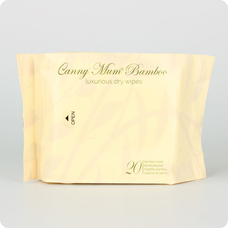 CANNYMUM LUXURIOUS BAMBOO DRY WIPES - PACK 20