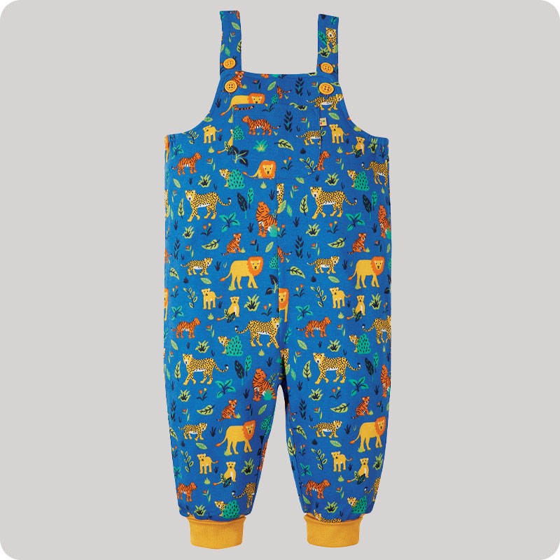 Frugi Parsnip Dungaree - Cobalt Big Cats