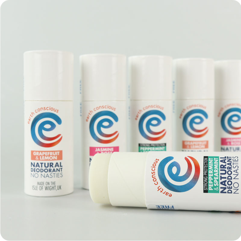 EARTH CONSCIOUS NATURAL DEODORANT- CARDBOARD STICK