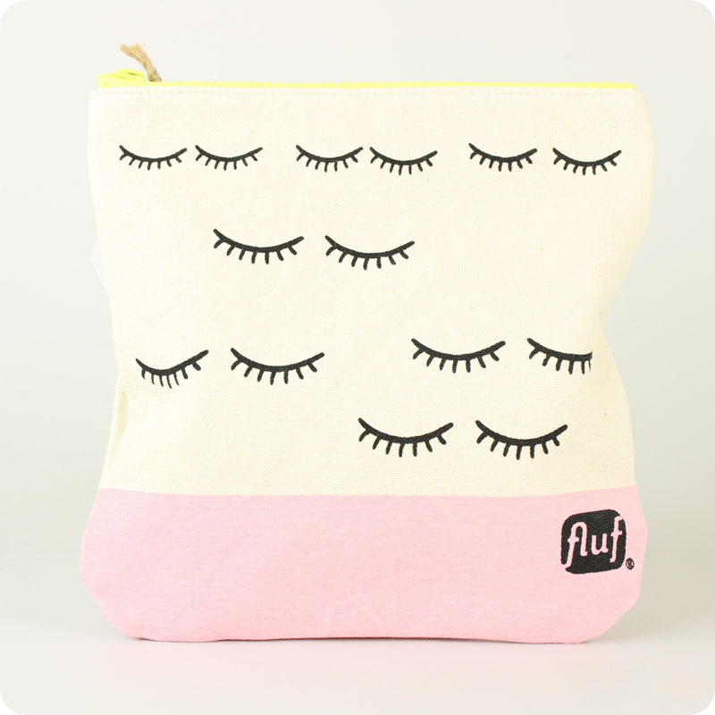 FLUF ZIPPED POUCH  - ORGANIC COTTON - WINK