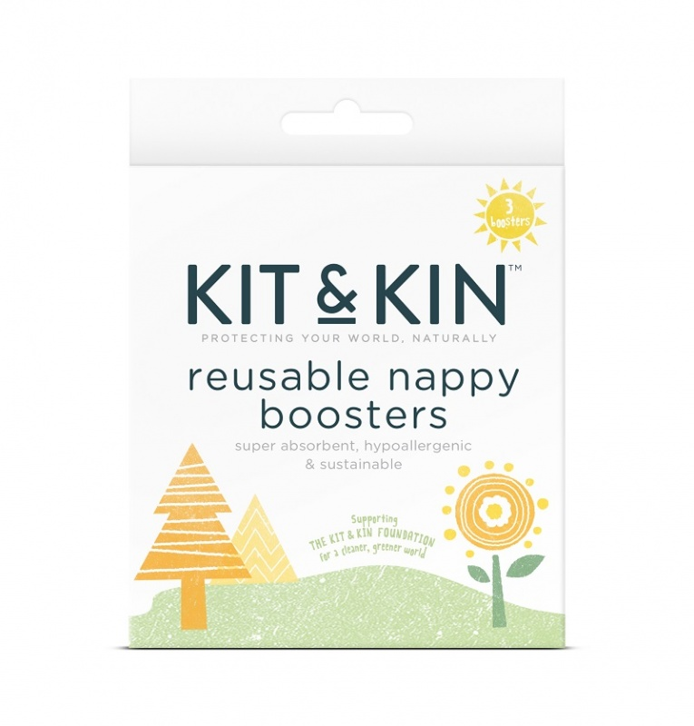 Kit & Kin Reusable Hemp Nappy Boosters