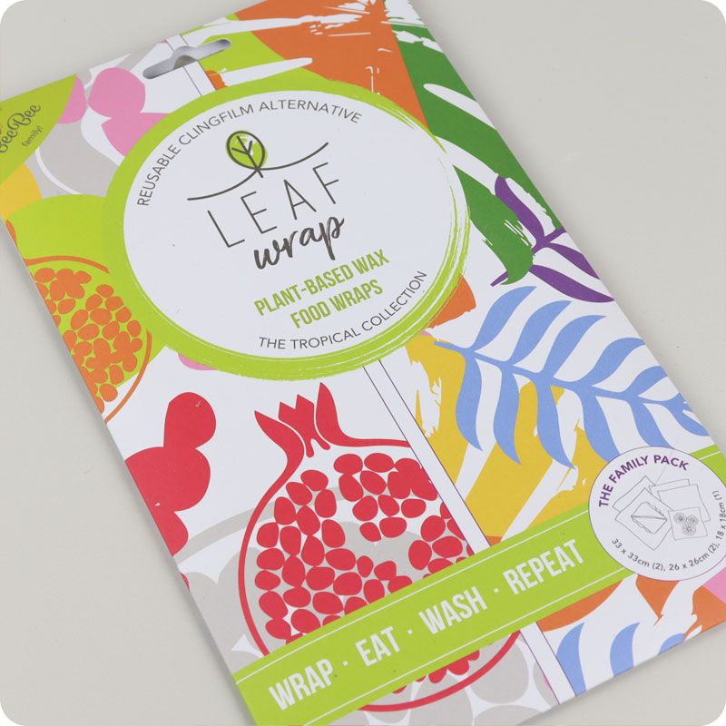 Leaf Vegan Reusable Food Wraps - Family Pack