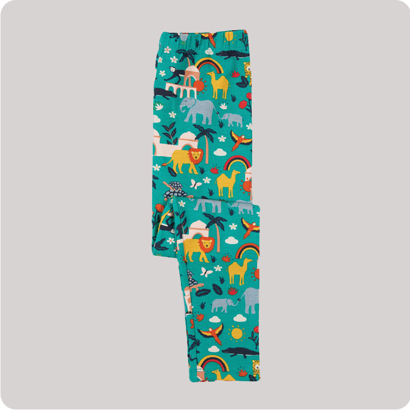 Frugi Libby Leggings - Jewel India