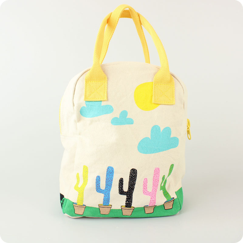 FLUF ZIPPED LUNCH BAG - CACTUS