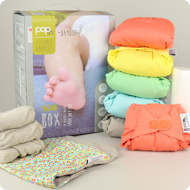 CLOSE POP IN NAPPY V2 - 10 PACK PASTELS