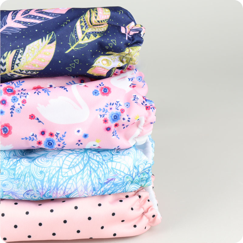 MAMA KOALA NAPPY 4 PACK - PRETTY IN PINK