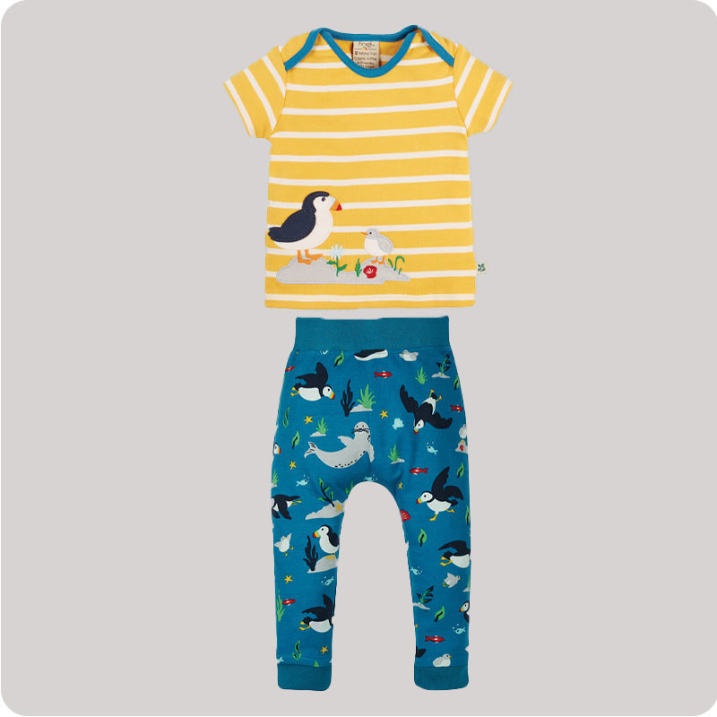 Frugi Olly Outfit - The National Trust - Puffin