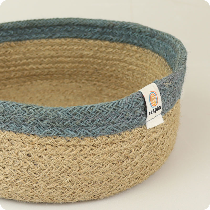 ReSpiin Jute Basket - Shallow Medium