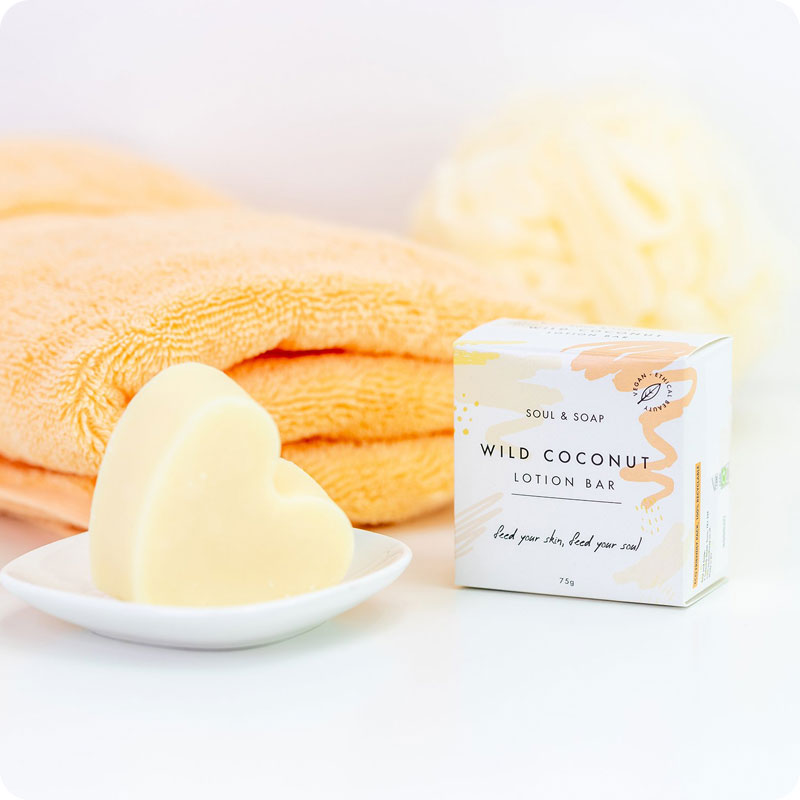 Soul & Soap Lotion Bar - Wild Coconut