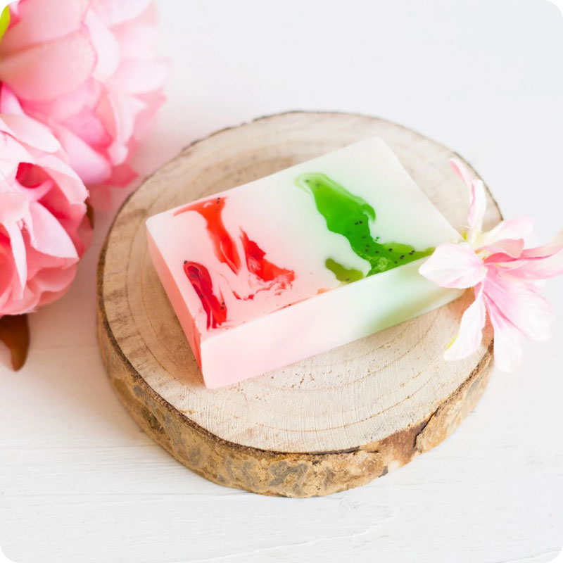Soul & Soap Soap Bar - Kiwi & Strawberry Smoothie