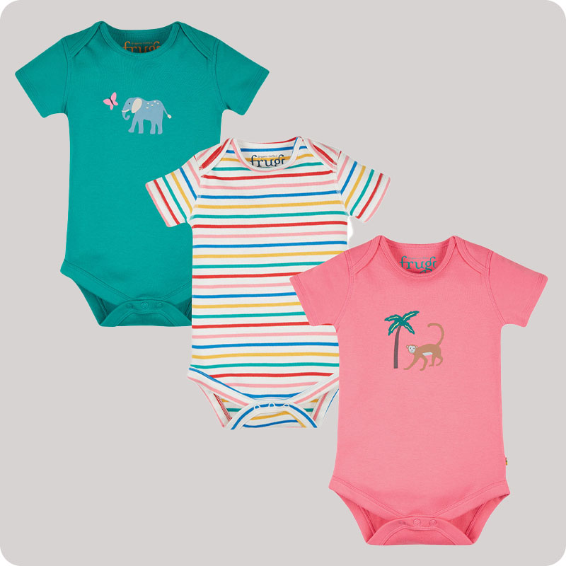 Frugi Super Special Body 3 Pack - Animals