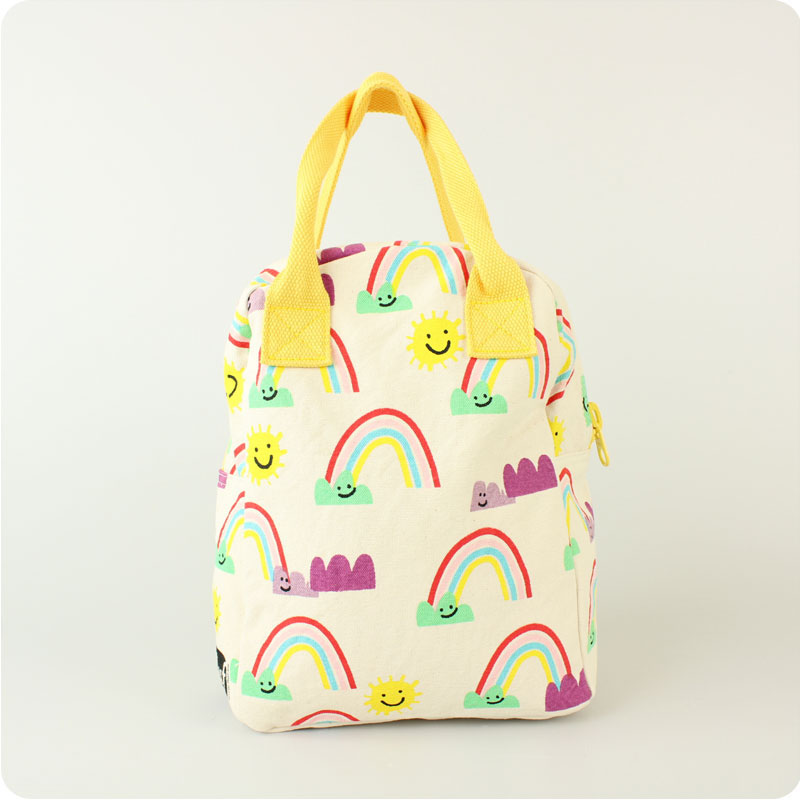 FLUF ZIPPED LUNCH BAG - RAINBOWS