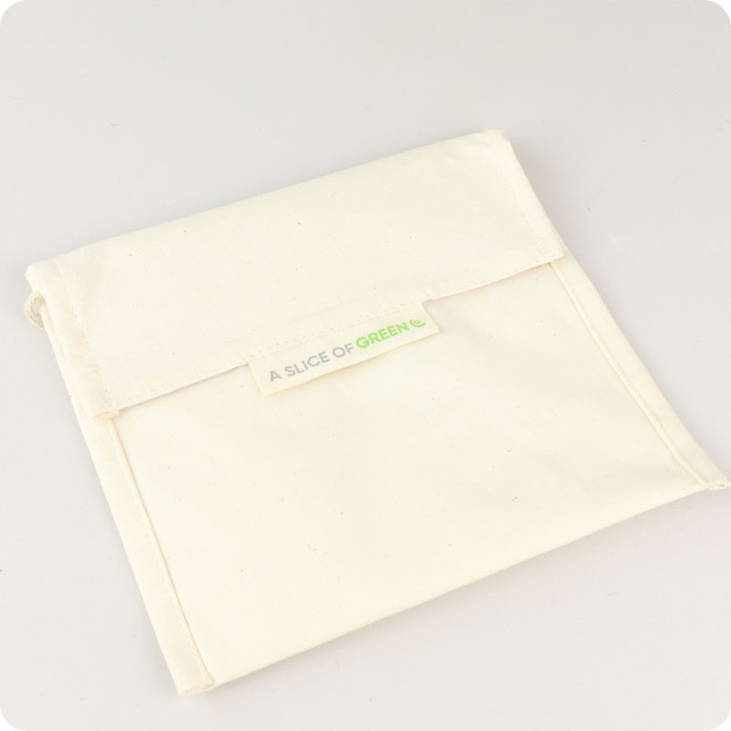 Slice of Green Organic Cotton Baggie