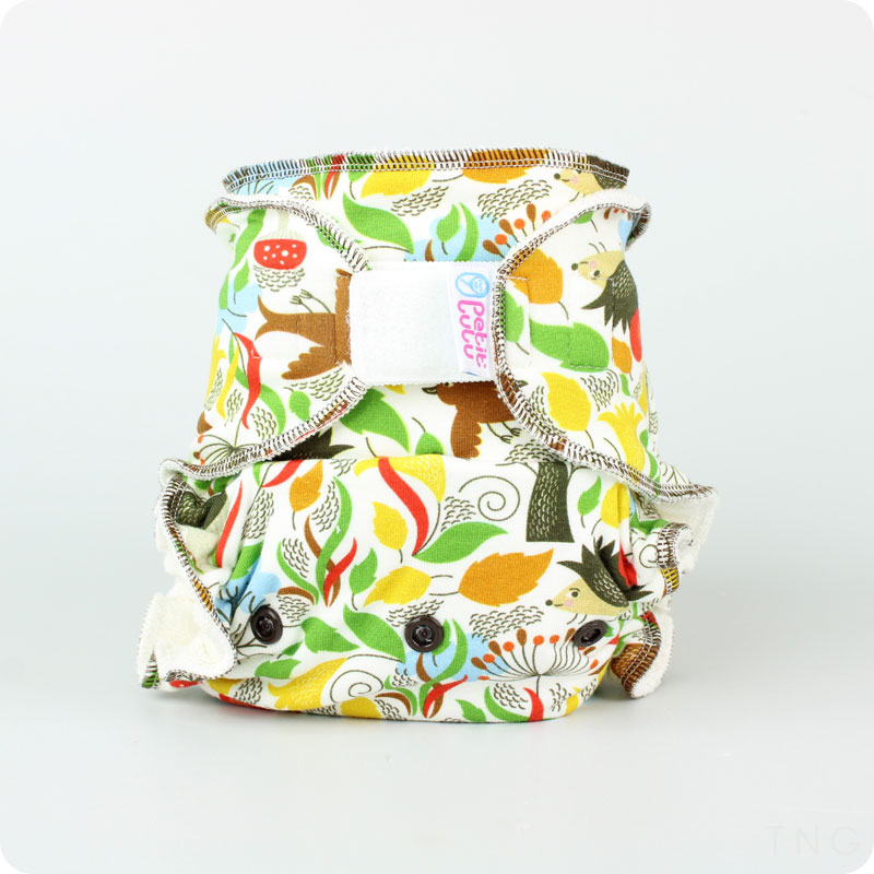 Petit Lulu One Size Fitted Nappy - Hook & Loop