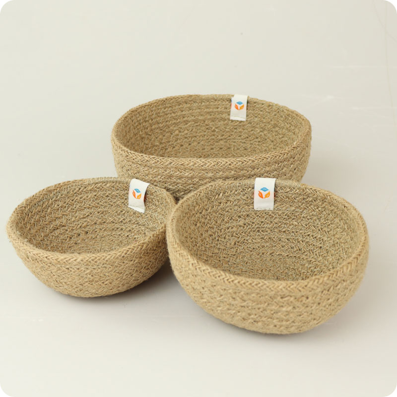 reSpiin - JUTE MINI BOWL SET - NATURAL