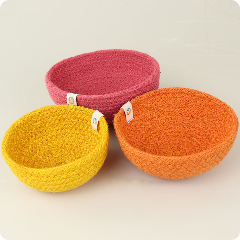 reSpiin - JUTE MINI BOWL SET - FIRE