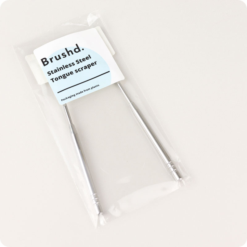 Brushd - Stainless Steel Tongue Scraper