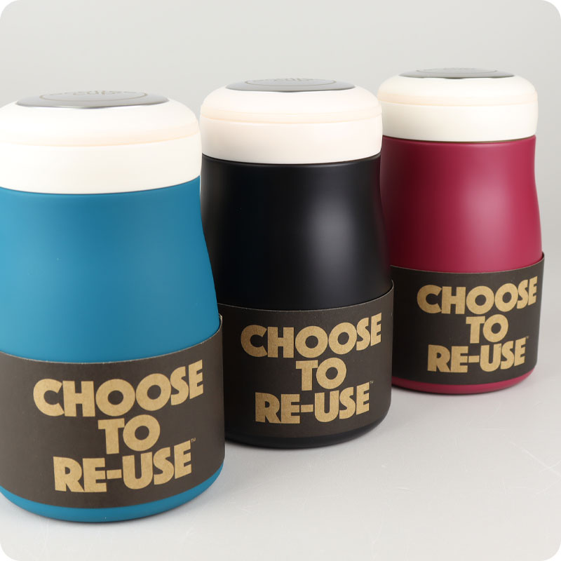 ECOFFEE REUSABLE CUP - HOT LUNCH CONTAINER