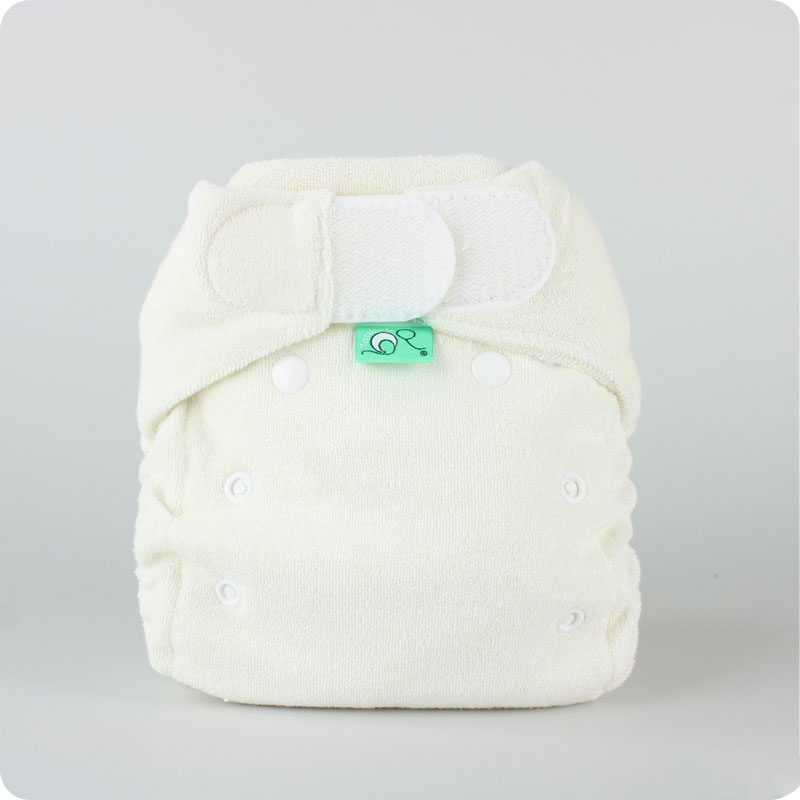 Tots Bots Bamboozle Stretch Nappy - White